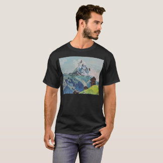 Snowy Mountains Artistic T-Shirt