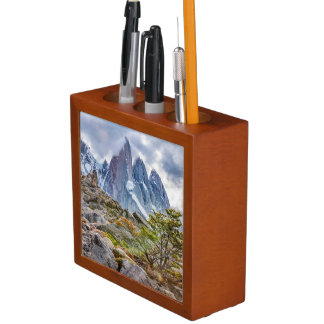 Snowy Mountains at Laguna Torre El Chalten Argenti Desk Organiser