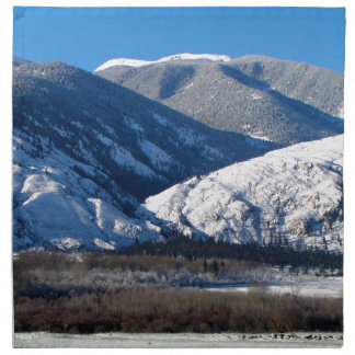 Snowy Mountains in BC Canada Napkin