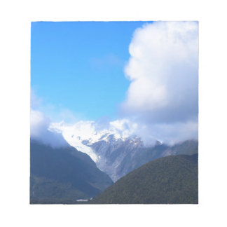 Snowy Mountains, New Zealand Glacier, Aerial View Notepad