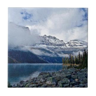 Snowy Mountains Scenic Ceramic Tile