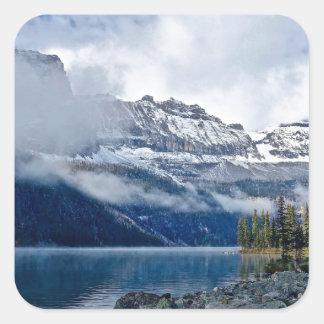 Snowy Mountains Scenic Square Sticker