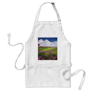 snowy mountains standard apron