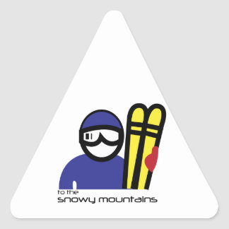 Snowy Mountains Triangle Stickers