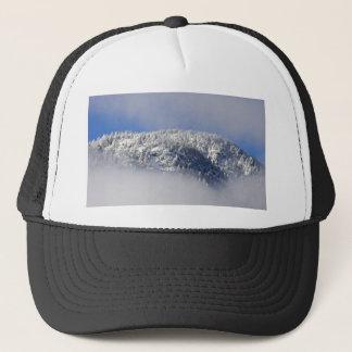 Snowy Mountaintop Trees Trucker Hat