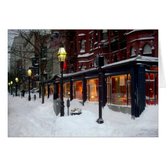 Snowy Newbury Street Card
