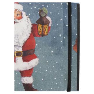 """Snowy Night Watercolor Santa iPad Pro 12.9"""" Case"""