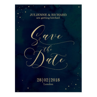 Snowy Night | Winter Save the Date Postcard