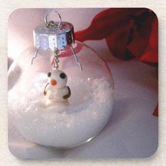 Snowy Ornament Drink Coaster