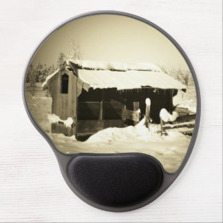 Snowy Out Building Gel Mouse Pad