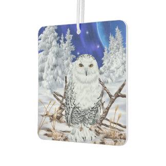 Snowy Owl Car Air Freshener