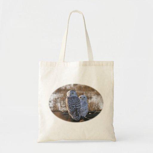 Snowy Owl Couple Bags