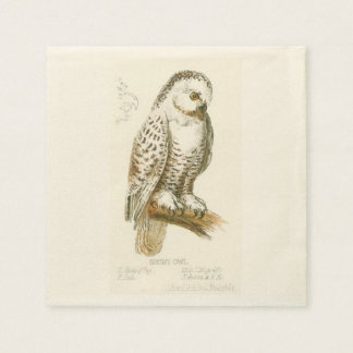 Snowy Owl Disposable Napkins