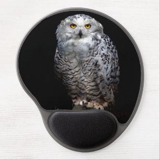 Snowy owl gel mouse pad