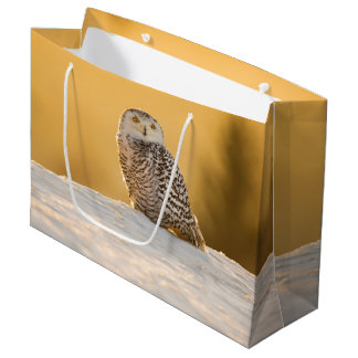 Snowy Owl Large Gift Bag