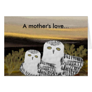 Snowy Owl Mother's Day Card