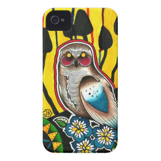 Snowy Owl Mushrooms and Morning Glory Flowers iPhone 4 Covers