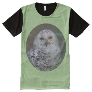 Snowy Owl, Schnee-Eule, 02_rd, All-Over Print T-Shirt