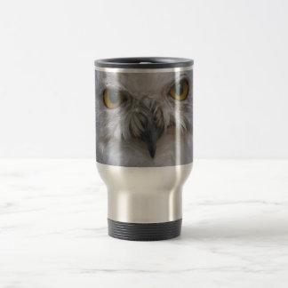 Snowy Owl, Schnee-Eule Travel Mug