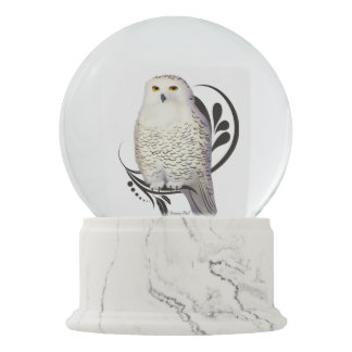 Snowy Owl Snow Globes