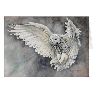 Snowy Owl Watercolor Wildlife Art Card