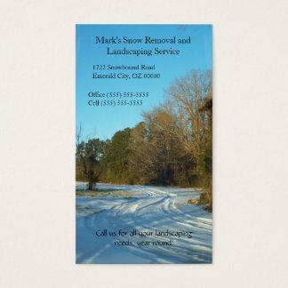 Snowy Path - North Carolina Snow Scene Business Card