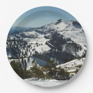 Snowy Peaks of Grand Teton Mountains II 9 Inch Paper Plate