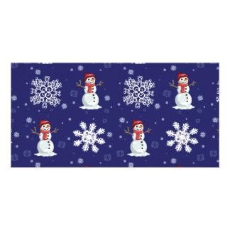Snowy Customized Photo Card