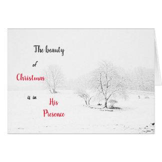 Snowy Photographic Scene Greeting Card