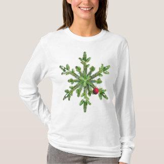Snowy Pine Snowflake Christmas T-Shirt