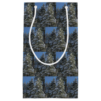 Snowy Pine Trees Christmas Gift Bag