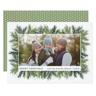 Snowy Pines Christmas Photo Card