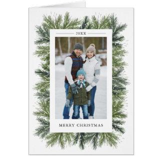 Snowy Pines Christmas Photo Greeting Card