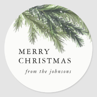 Snowy Pines Christmas Sticker