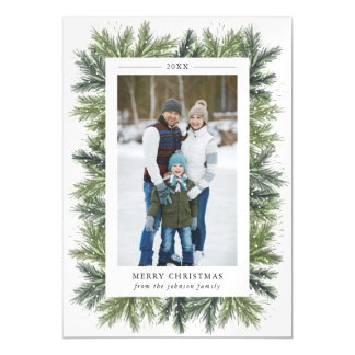 Snowy Pines Magnetic Photo Card
