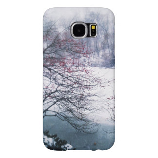 Snowy Pond in Central Park Samsung Galaxy S6 Cases
