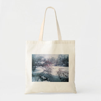 Snowy Pond in Central Park Tote Bag