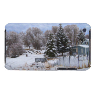 Snowy Ranch House Barely There iPod Covers