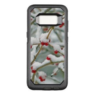 Snowy Red Berries Winter Scene OtterBox Commuter Samsung Galaxy S8 Case