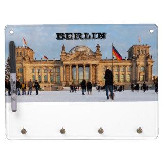 Snowy Reichstag_001.02.2 (Reichstag im Schnee) Dry Erase Board With Key Ring Holder