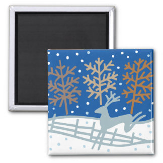 Snowy Reindeer Magnet Fridge Magnet