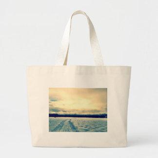 snowy road bag