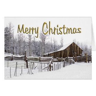 Snowy Rural Christmas Scene Card