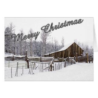 Snowy Rural Scene Christmas Card