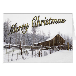 Snowy Rural Scene Christmas Card