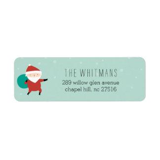 Snowy Santa Return Address Label