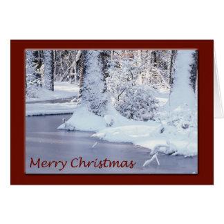 Snowy Scene Christmas Card