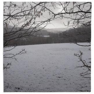 Snowy Scene Napkin