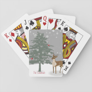 Snowy Scene/Playing Cards/Deer & Cardinal Playing Cards