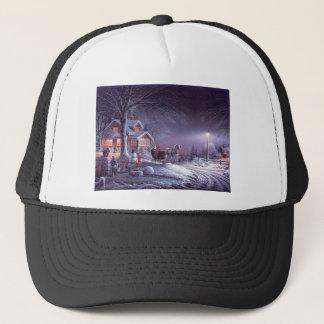 Snowy scene trucker hat